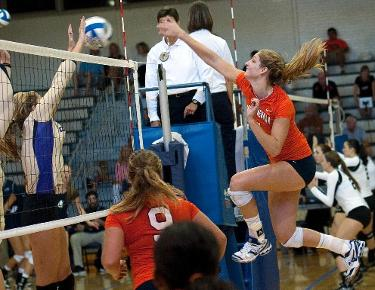 Volleyball falls to nationally ranked Wingate in straight sets