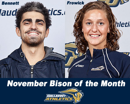 Brian Bennett, Kali Frowick named November Bison of the Month