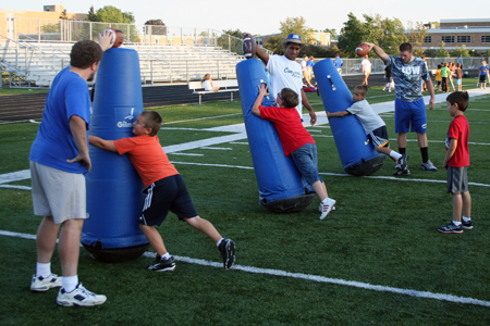 Football Players Lead Second Annual Youth Clinic