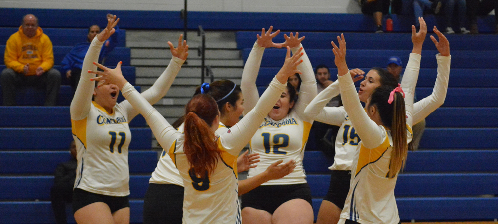 Women's Volleyball Bests Dominican 3-0 For Homecoming Victory