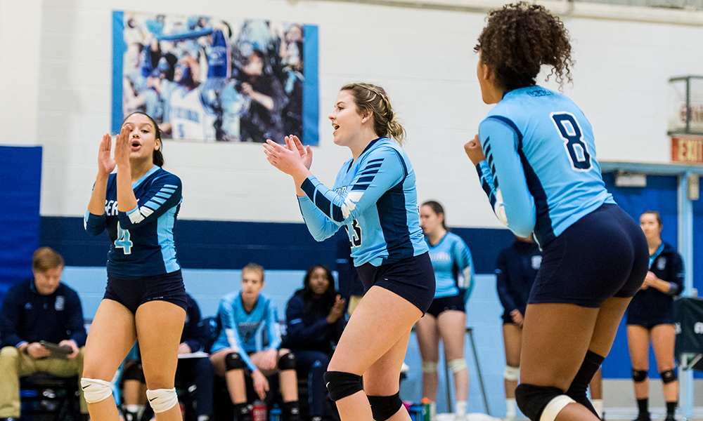 Women's volleyball falls short in close battle with St. Clair