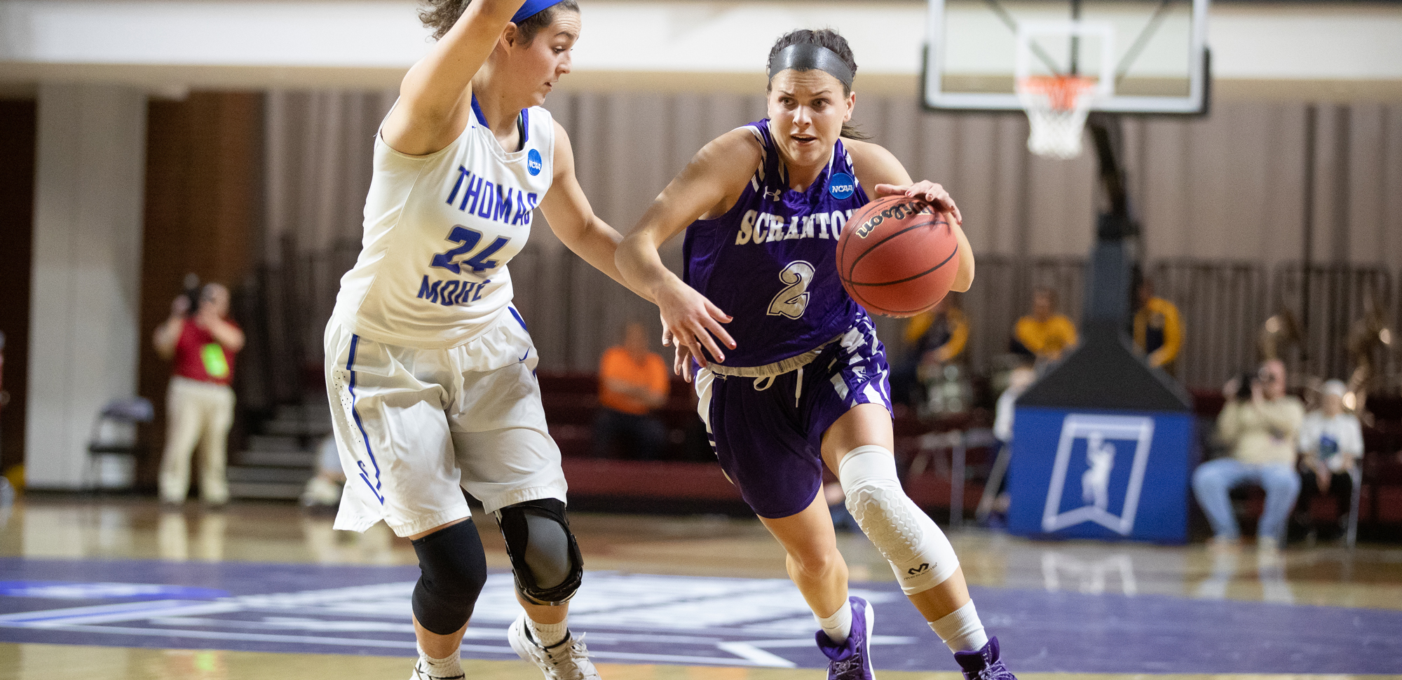 Senior guard Emily Sheehan hit four threes as The University of Scranton women's basketball team picked up a 78-42 win over Wilkes on Sunday.