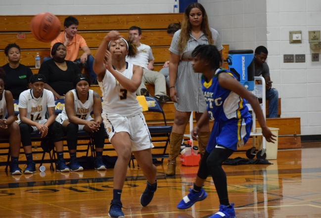 Taylor Riggins (3) leads Lady Tigers to big road win over East Georgia