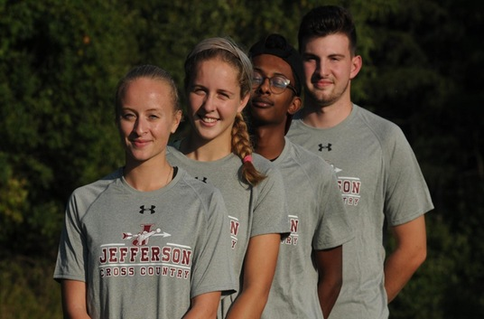 Men's and Women's Cross Country Runners, Noah Newton, Wesley Coombs, Kayla Ruttan, and Piper Warren