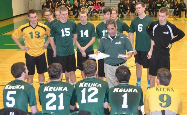 Keuka College's men's volleyball team dropped matches to Wells and SUNY Polytechnic during Saturday's NEAC crossover.