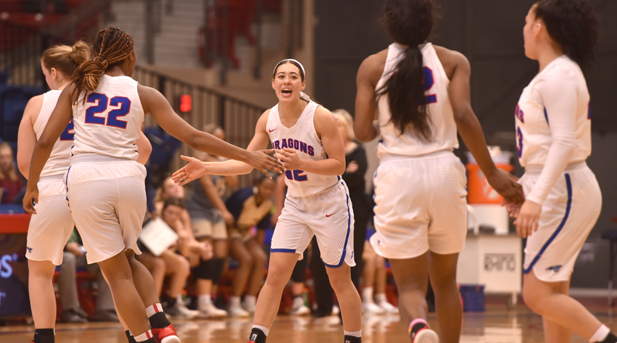 The Blue Dragon Women's Basketball Team defeats Cloud County 60-49 on Wednesday in Concordia.