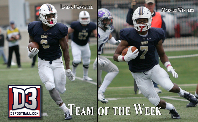 Carswell, Marcus Winters Named to D3football.com Team of the Week