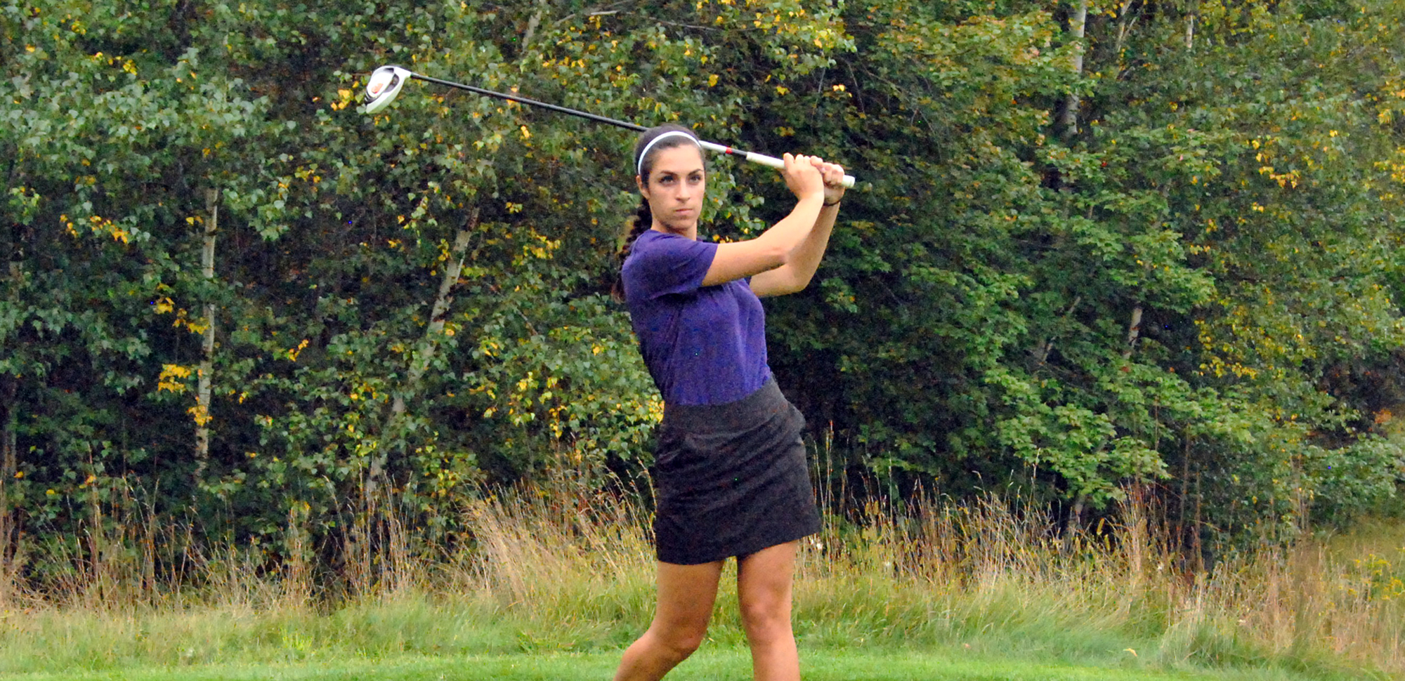 Senior Katie Allen had the first eagle in University of Scranton women's golf history on Saturday.