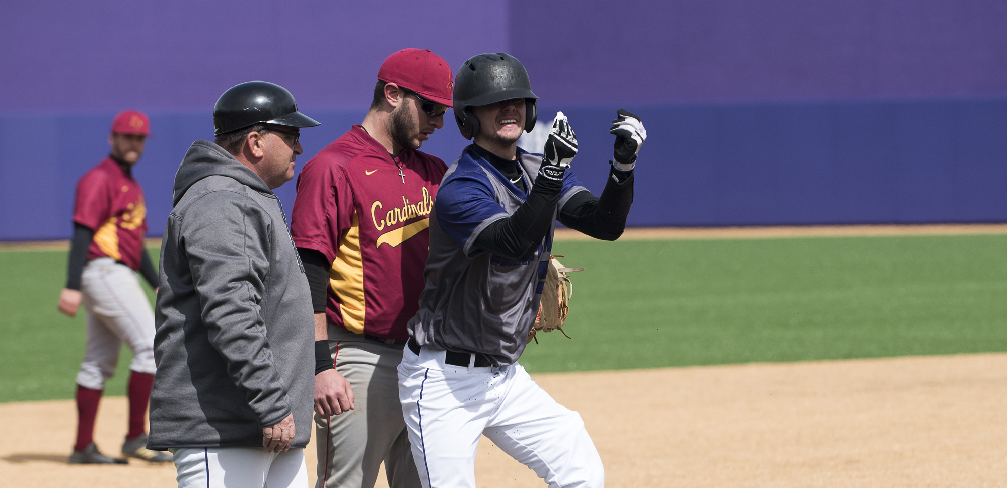 Senior second baseman Brad Schneider had the 100th hit of his career in the Royals' win over Moravian on Saturday.
