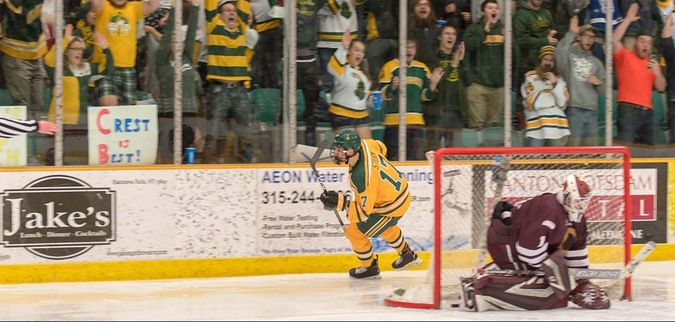 Clarkson beats Colgate, clinches first round bye