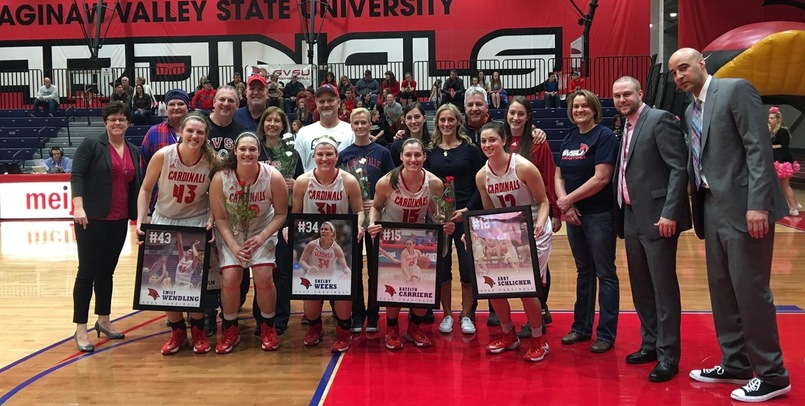 SVSU celebrated Senior Night prior to Saturday afternoon's game versus the Timberwolves...