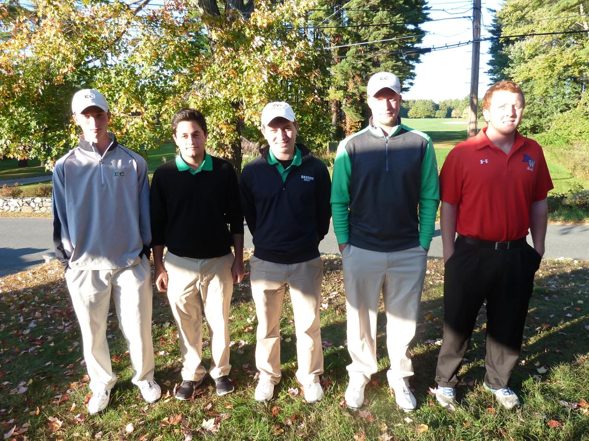 Men's Golf Takes Second at NECC Championships