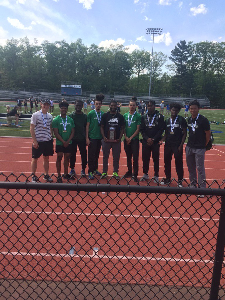 Mustangs Win 4x100 at ECAC's, Finish Second in Team Standings