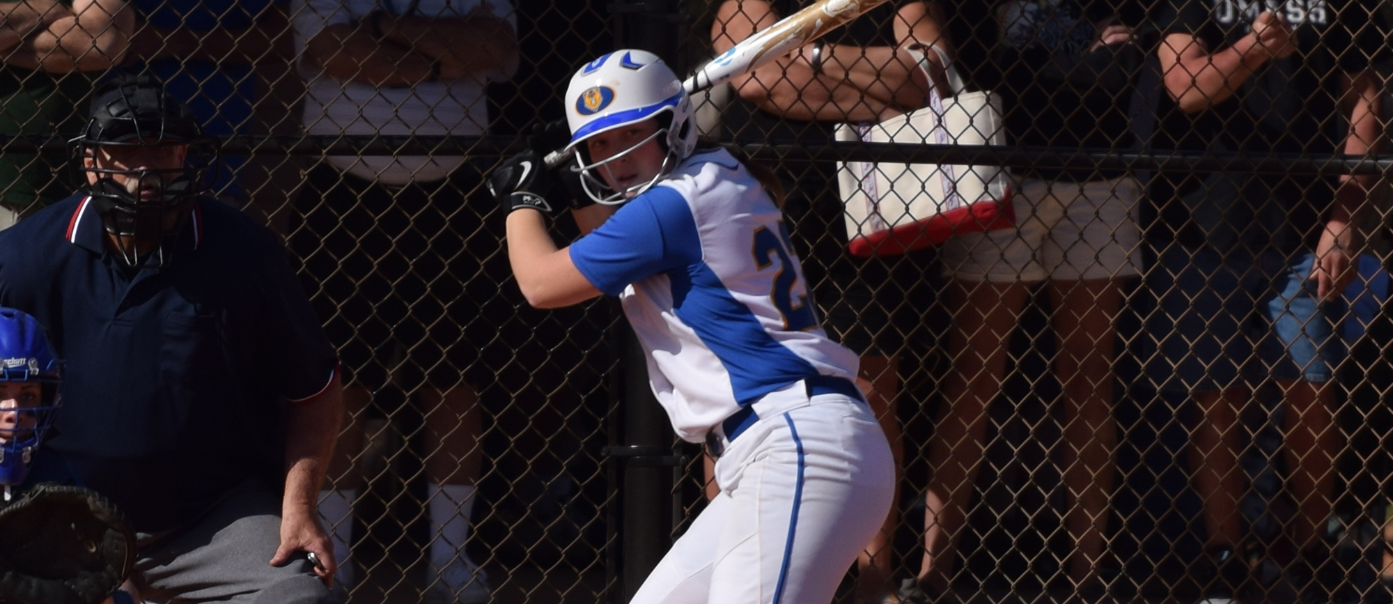 Aimee Kistner hit a three-run home run in Western New England's 5-2 win over Suffolk on Saturday.