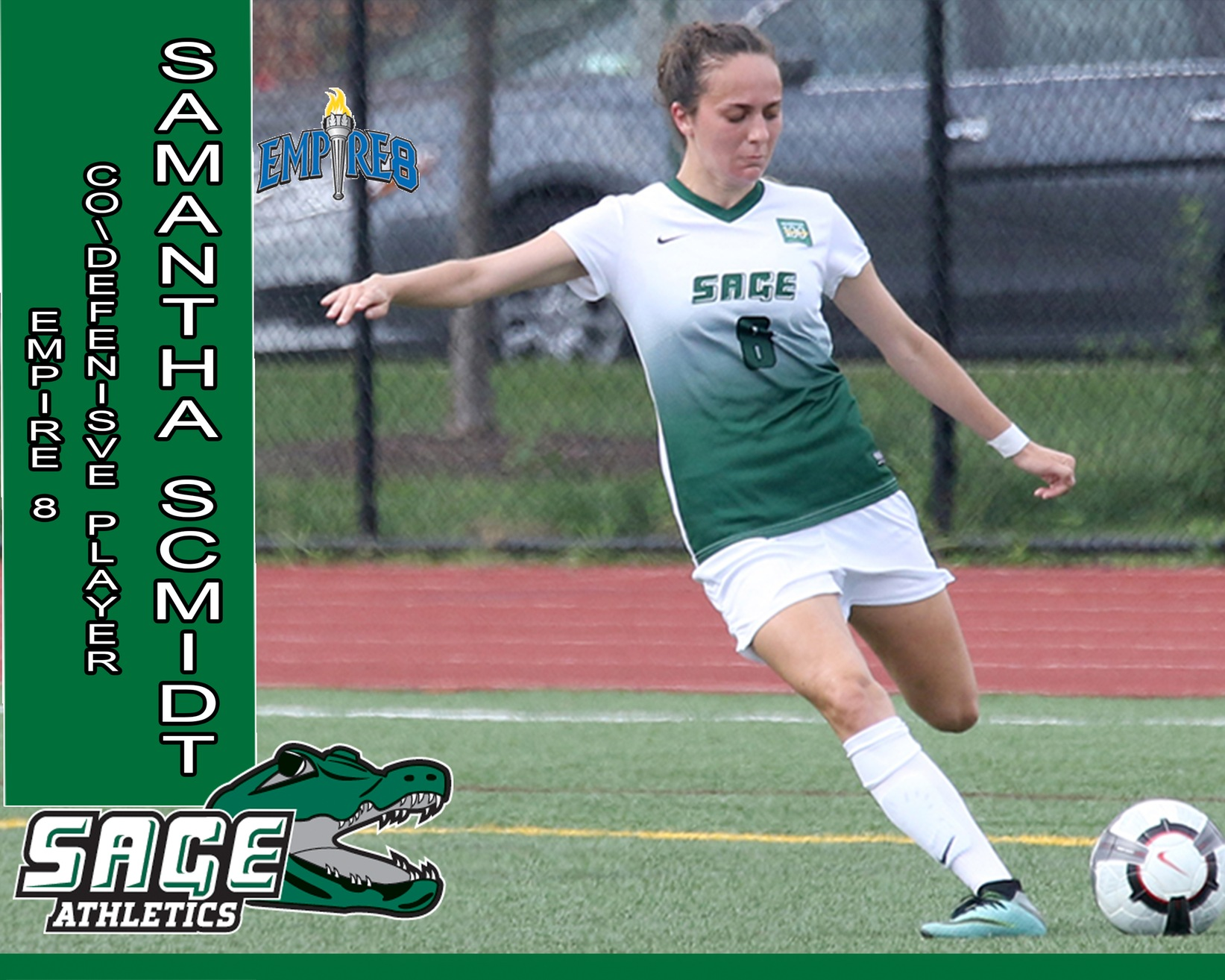 Schmidt honored by Empire 8 as Women's Soccer Co-Defensive Player of the Week