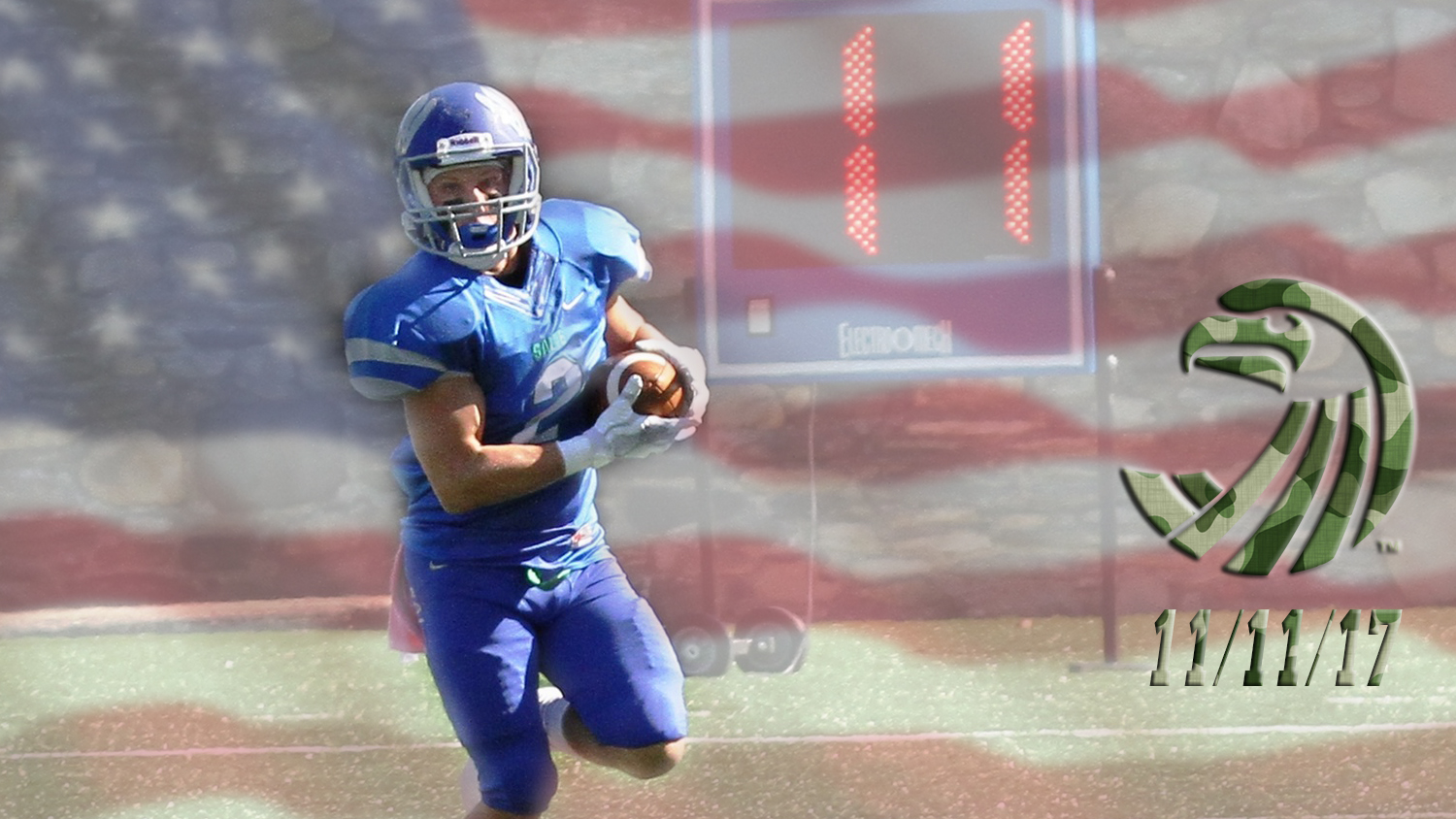 11/11/17: Military Appreciation on Veterans' Day, Senior Day, SAAC Food Drive, Sigma Theta Tau relief aid for hurricane victims ... Salve Regina football hosts Curry on Sat. (12 p.m.) at Toppa Field