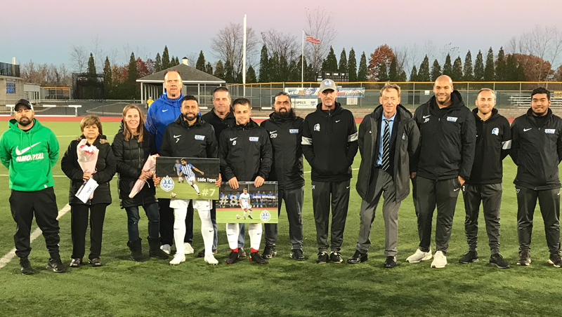 Men's Soccer Falls to Merrimack on Senior Day