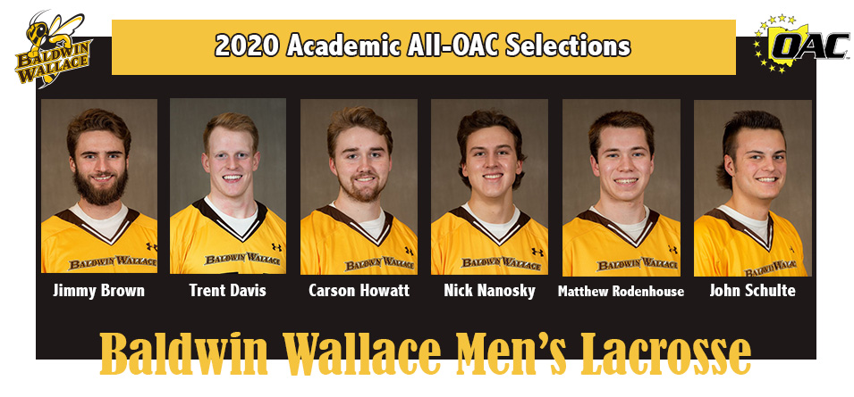 Six Men's Lacrosse Student-Athletes Selected to 2020 Academic All-OAC Team