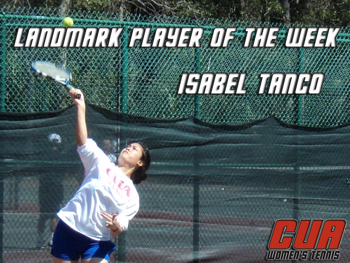 Tanco Named Landmark Player of the Week