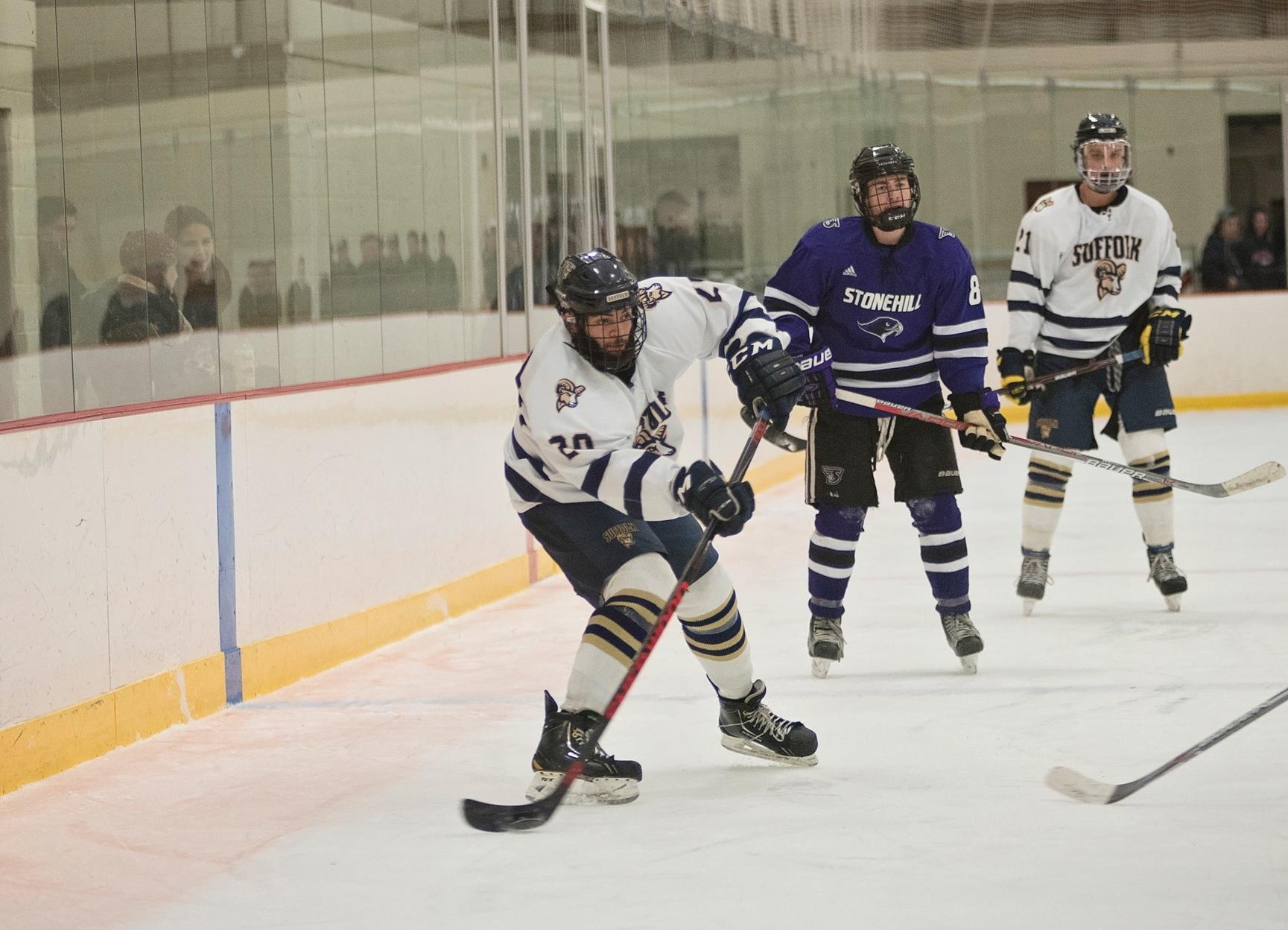 Men's Hockey Stops by Becker Saturday