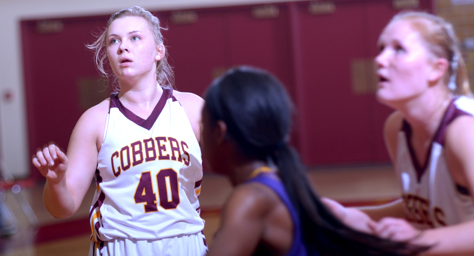 Junior Mira Ellefson scored a team-high 10 points in the Cobbers' game at Augsburg.