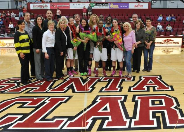 Women's Basketball Falls on Senior Day to San Diego to Finish Regular Season