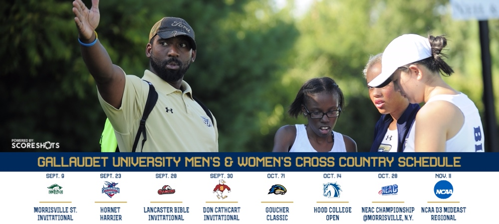 Gallaudet men's and women's cross country 2017 schedules released