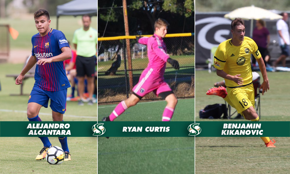 MEN'S SOCCER SIGNS THREE TO NATIONAL LETTERS OF INTENT