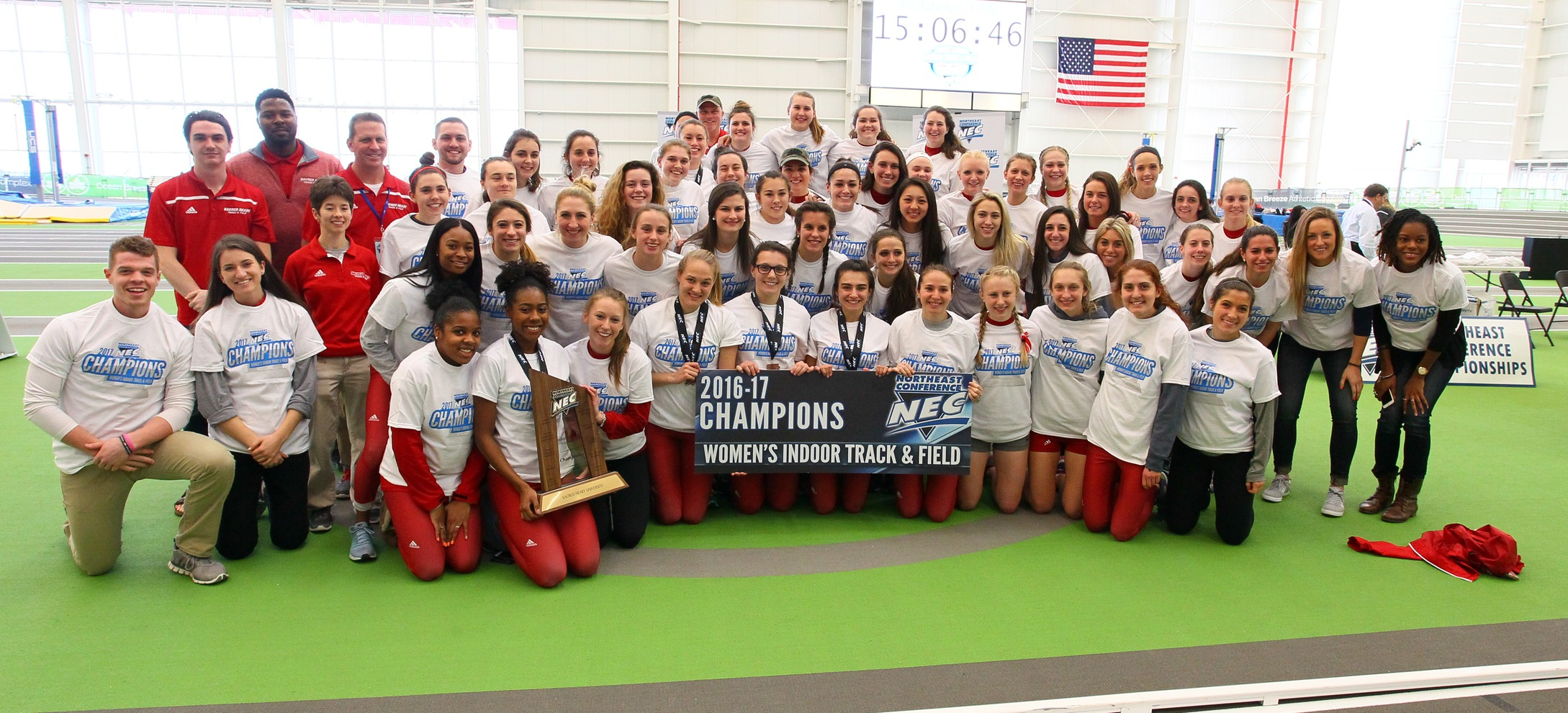 Women's Track & Field Four Peat at NEC Championships