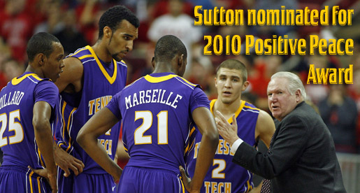 Sutton nominated as one of six coaches for 2010 NGO Positive Peace Awards