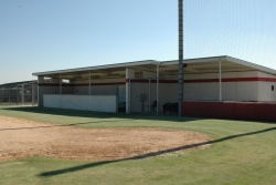 Panther Field home dugout