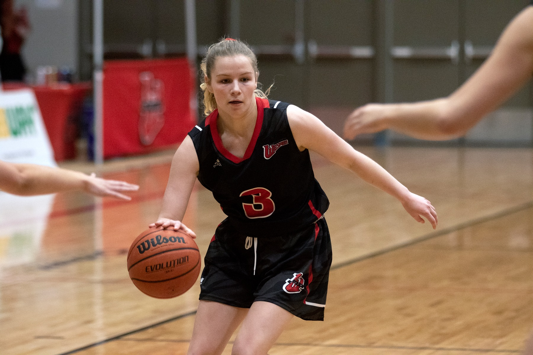 Anna Kernaghan had 21 points to lead the Wesmen women's basketball team to a win at UBC-Okanagan on Friday, Jan. 24, 2020. (David Larkins/Wesmen Athletics File)