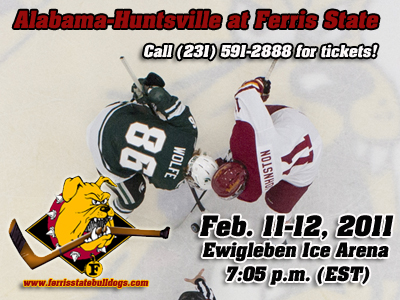 Bulldog Hockey Tangles With Alabama-Huntsville This Weekend