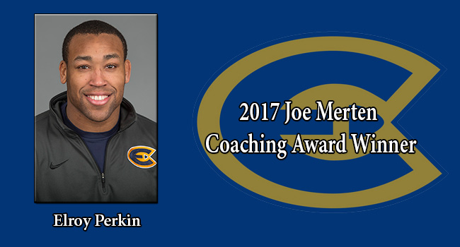 Elroy Perkin named 2017 Joe Merten Coaching Award Winner