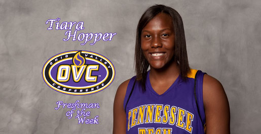 Hopper earns OVC Freshman of the Week honors