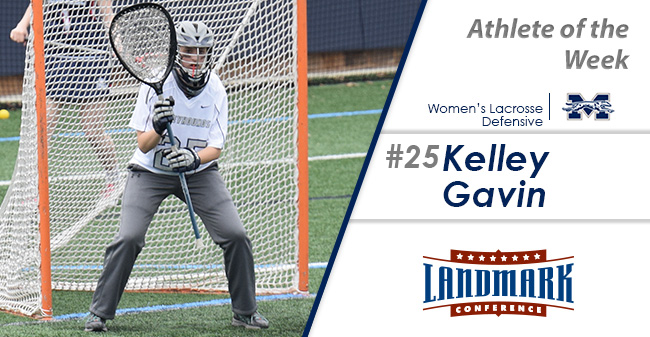 Kelly Gavin '19 selected as Landmark Conference Women's Lacrosse Defensive Athlete of the Week.