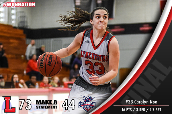 Women's Basketball Cruises Past Shenandoah, 73-44