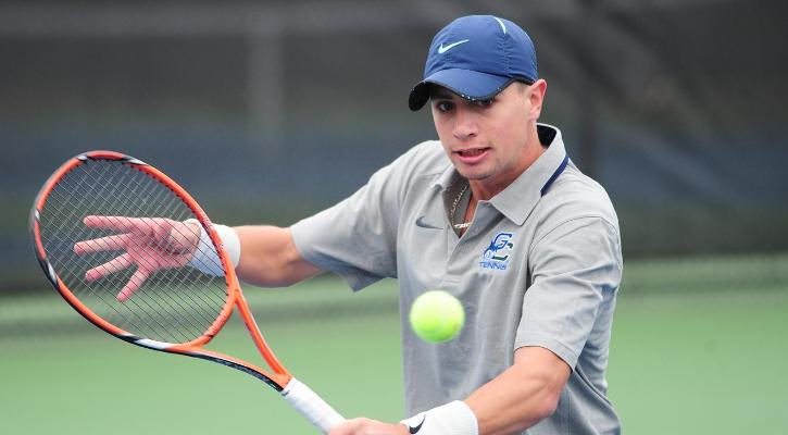 Freshman Vincent Castermans picked up two wins in his first Peach Belt action.