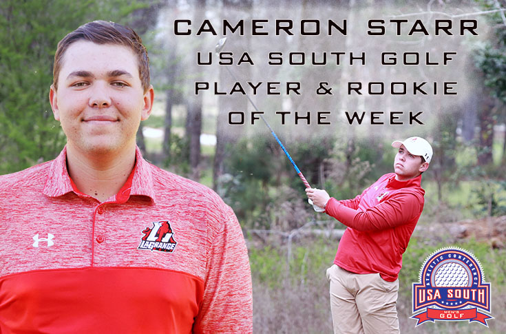 Golf: Cameron Starr named USA South Player and Rookie of the Week