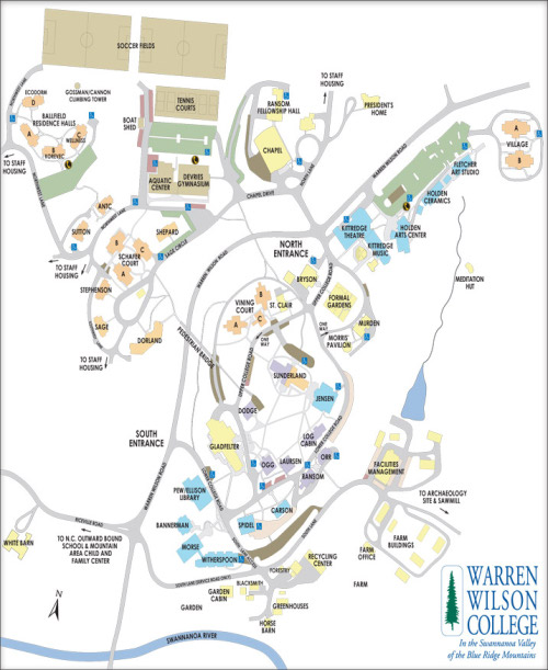 Warren Wilson Campus Map