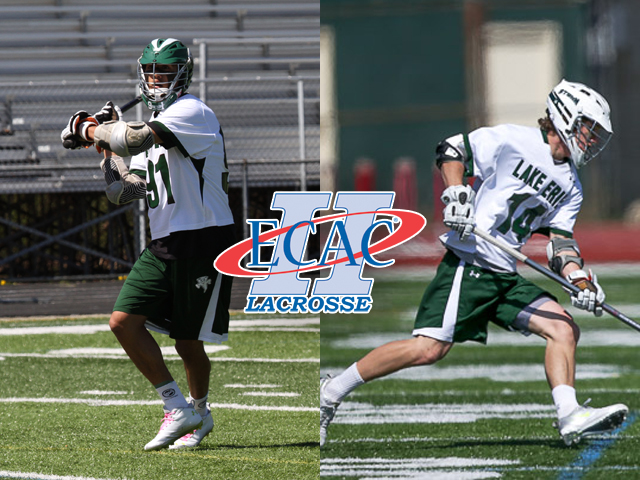 Keegan Bal and Justin Goodwin earned ECAC D2 Player of the Week honors April 8.