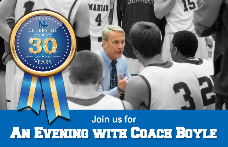 An Evening with Coach Boyle graphic.