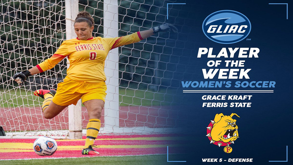 Bulldog Rookie Grace Kraft Claims GLIAC Soccer Player Of The Week Honor