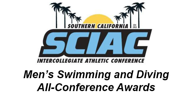 SCIAC Is Proud to Announce the Men's Swimming and Divinng All-Conference Awards