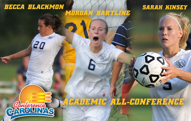 Blackmon, Hartline and Kinsey Named to Women's Soccer Academic All-Conference Team
