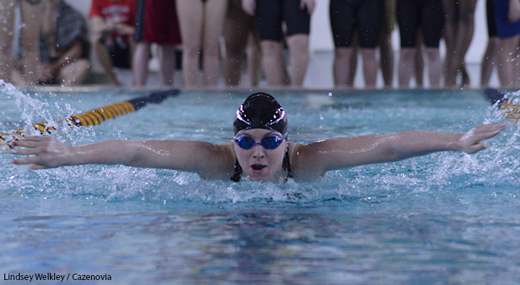 Cloutier Wins 400 IM Title At NEAC Meet