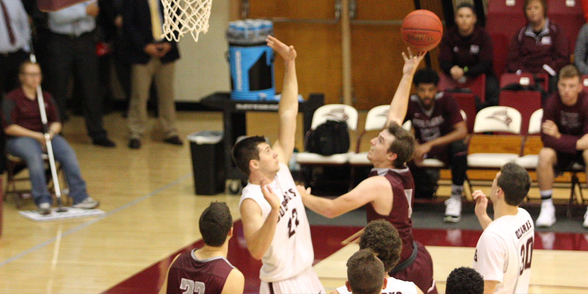 Men's Basketball Holds on for 78-72 Road Win at Baker