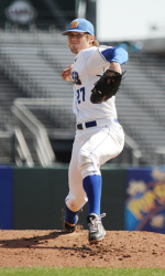 Vedo's Near No-No Helps Gauchos Sweep Doubleheader