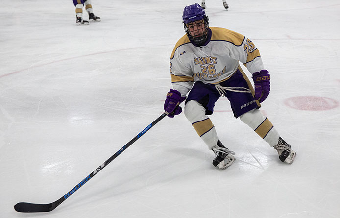 Sullivan's Pair Pushes Men's Ice Hockey Past Assumption, 3-2, into First Place in NE10