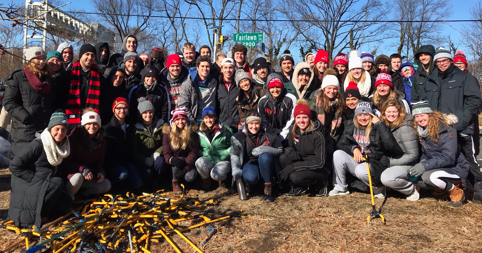 Catholic Athletics Participates in MLK Day of Service